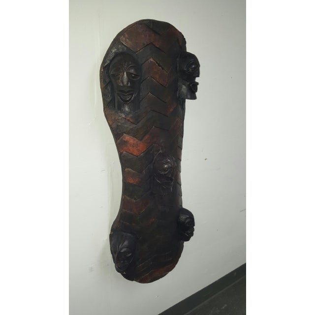Hand Crafted African Wooden Shield - Image 5 of 9