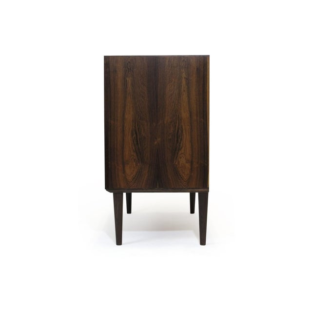 Small Danish Rosewood Cabinet With Brass Hinges For Sale - Image 10 of 11