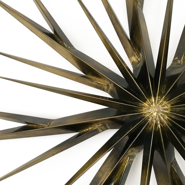 Curtis Jere Patinated Brass Branching Starburst Wall Sculpture, 1981 For Sale In Chicago - Image 6 of 11