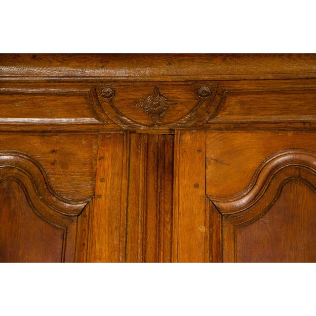 Late 19th Century 19th Century Louis XV Antique French Carved Armoire For Sale - Image 5 of 13