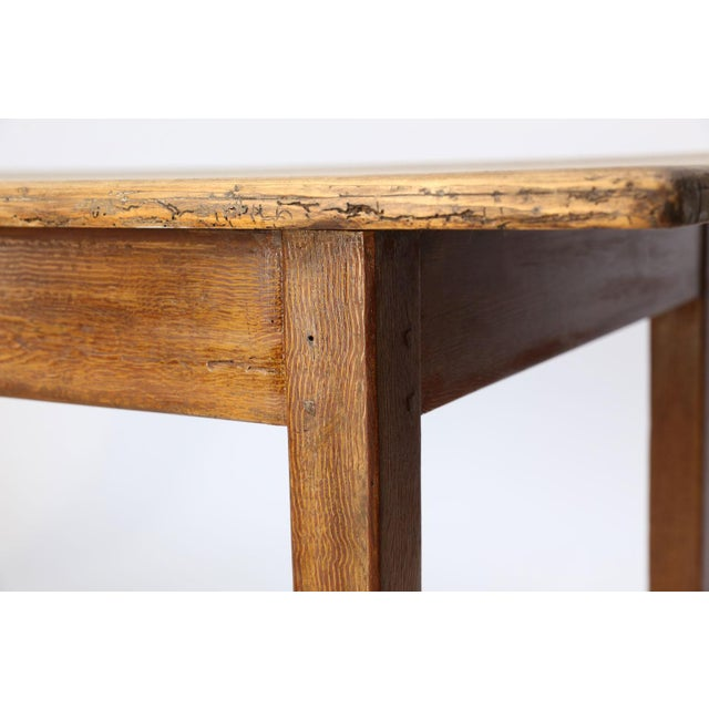 Faux-Grain Painted French Farm Table For Sale In Houston - Image 6 of 13