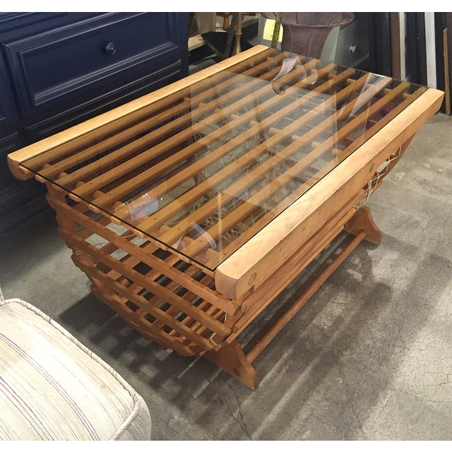 Modern Nautical Lobster Trap Coffee Table - Image 7 of 8