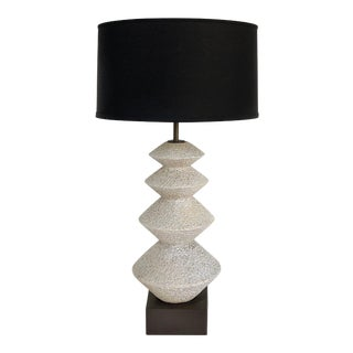 Brutalist Plaster Table Lamp, Jacques Grange Attributed For Sale