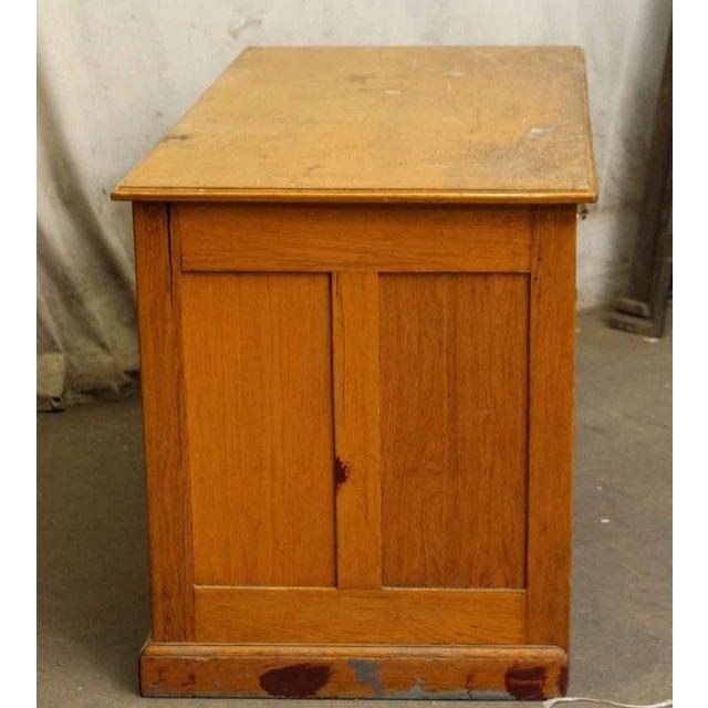 Restorable Oak Wood Library Desk - Image 7 of 8