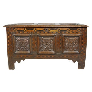 Jacobean Oak Coffer For Sale