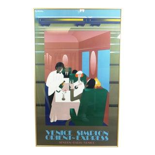 """1981 Pierre Fix-Masseau """"Venice Simplon Orient-Express"""" Colored Lithograph For Sale"""