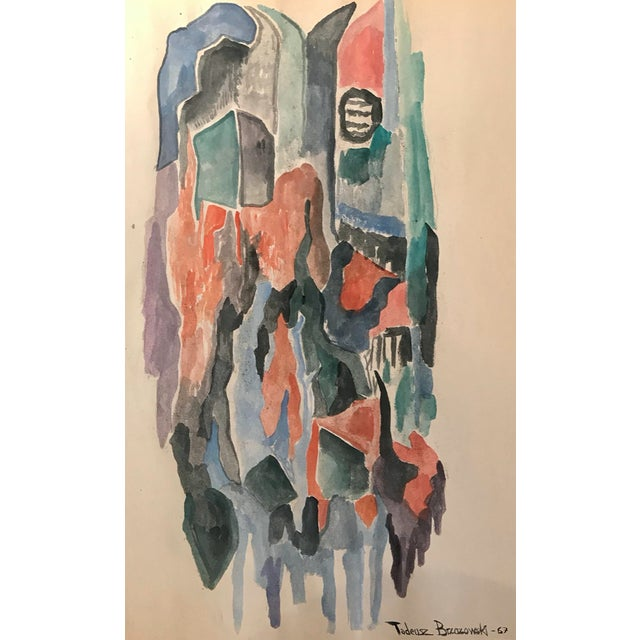 Tadeusz Brzozowski Abstract Painting 1967 For Sale - Image 4 of 4
