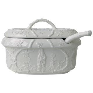 Blanc De Chin Bamboo-Motif Soup Tureen For Sale