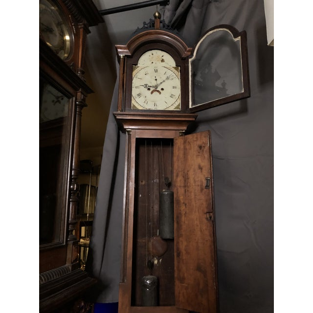 Antique Early American Grandfather Clock Attributed to Silas Parsons For Sale In Los Angeles - Image 6 of 10
