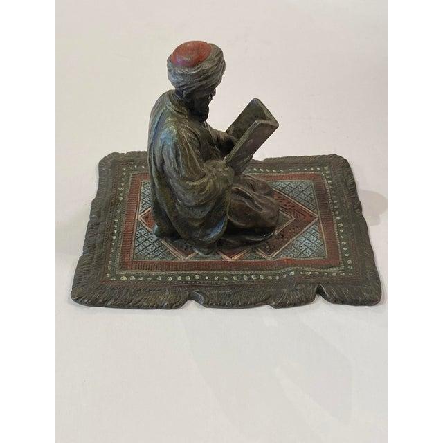 19th Century Franz Bergman Austrian Bronze Reading Figure For Sale - Image 5 of 8