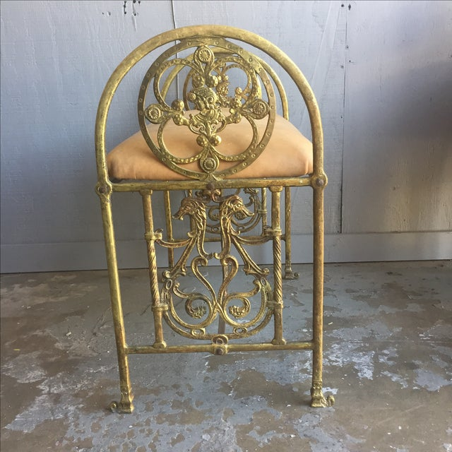 Renaissance Revival Oscar Bach Bronze and Iron Bench For Sale - Image 3 of 10
