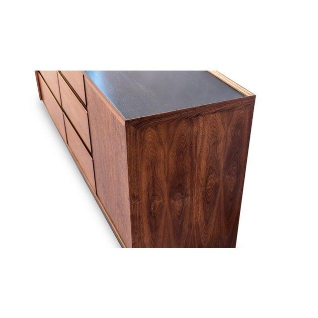 Wood Dillingham Esprit Walnut Dresser For Sale - Image 7 of 9