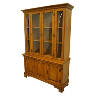 Tell City Colonial Style Maple China Cabinet Preview
