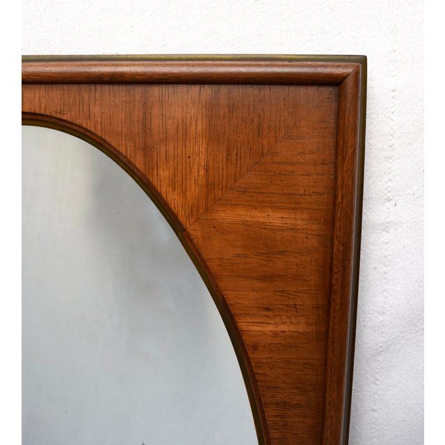 1950's White of Mebane Walnut Oval Mirrors - a Pair For Sale In Philadelphia - Image 6 of 9