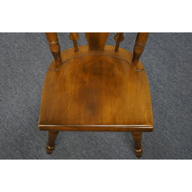 Temple Stuart Solid Hard Rock Maple Colonial Style Splat Back Dining Side Chair 814 For Sale - Image 4 of 11