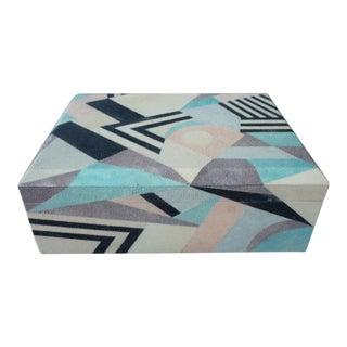 1970's Art Deco Style Maitland Smith Multi Color Shagreen Box For Sale