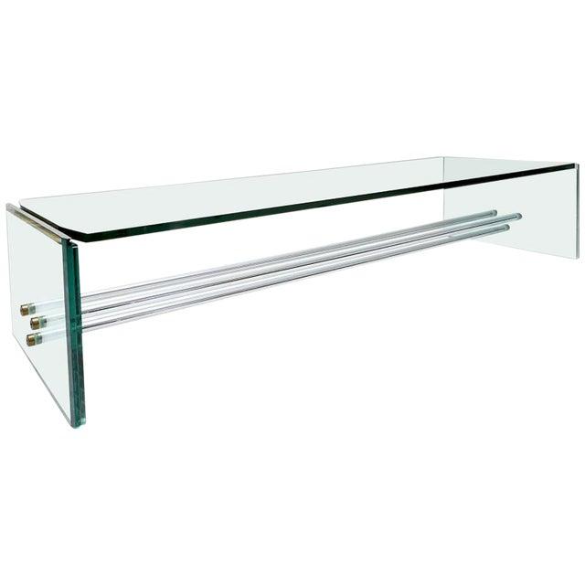 Large Glass Coffee Table by Fontana Arte For Sale