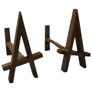 Rustic a Andirons For Sale