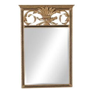 Friedman Brothers Regency Black & Gold Mirror For Sale