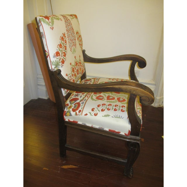 Suzani Upholstered Armchairs - A Pair - Image 4 of 10