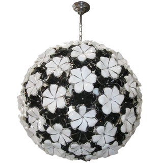 Italian Murano Glass Flowers Chandelier by Cenedese For Sale