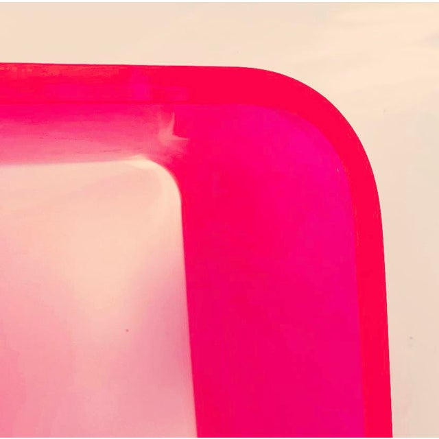"""2010s """"The Side Piece"""" Side Table in Neon Pink For Sale - Image 5 of 8"""