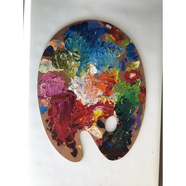 1980s Vintage Artist Color Palette For Sale - Image 5 of 5