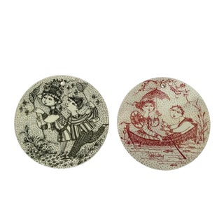 Bjorn Wiinblad Hanging Plates - a Pair For Sale