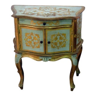 Antique Louis XV Style Distressed Painted Side Table For Sale