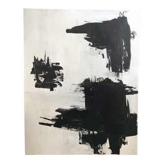Black & White Abstract Acrylic Painting