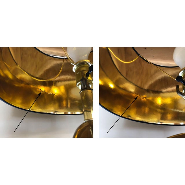 Solid Brass Swoosh 'Pierre Cardin' Lamps by Erwin Lambeth - a Pair For Sale - Image 11 of 12