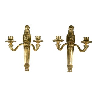 1920s Caldwell Neoclassical Bronze Sconces - a Pair For Sale