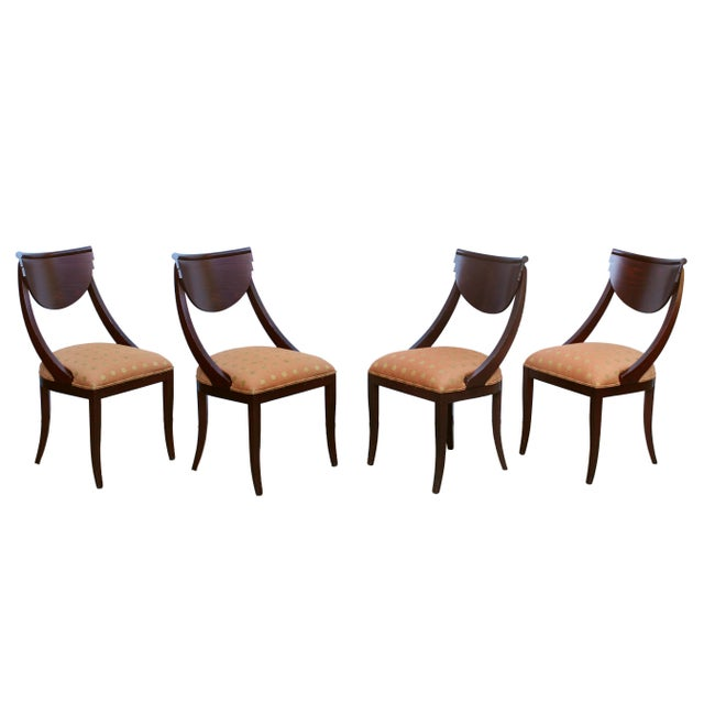 Auburn 1980's Pietro Costantini for Ello Furniture Post Modern Italian Dining Chairs - Set of 4 For Sale - Image 8 of 8