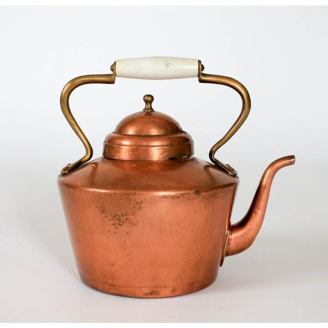 Copper Vintage Copper & Brass Kettle Teapot For Sale - Image 8 of 8