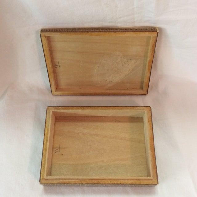 Persian Wood Inlay Box - Image 7 of 10