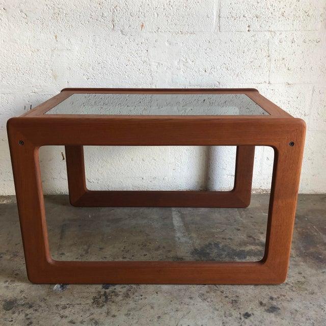 1970s Vintage Mid Century Modern Danish Side Table by Komfort Furniture For Sale - Image 5 of 11