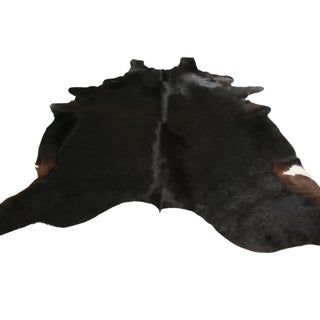 Contemporary Brown Large Leather Cowhide Rug Preview