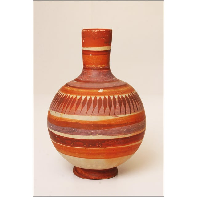 Vintage Native American Brown Art Pottery Vase - Image 10 of 11
