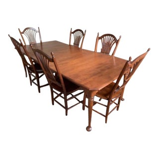 1990s Traditional Nichols and Stone Antique Dining Set - 9 Pieces For Sale