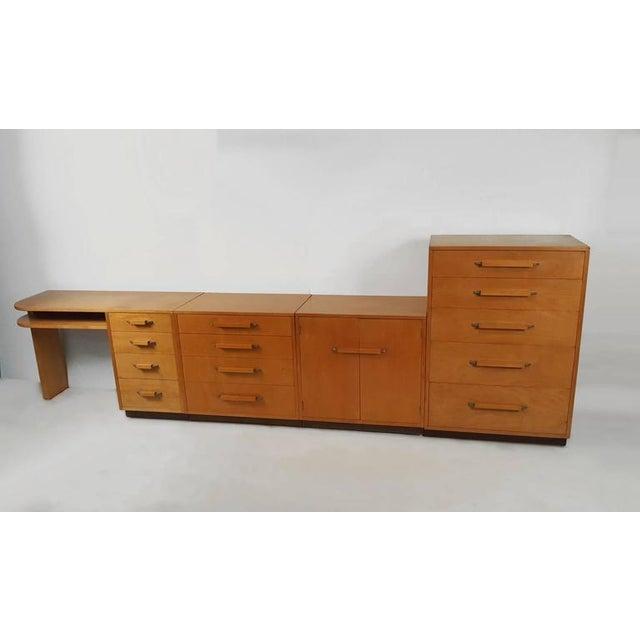'Flexible Home Arrangement' Modular Birch Cabinet System by Eliel Saarinen - Image 3 of 8