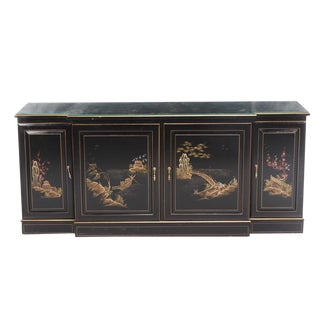 Chinoiserie Style Vintage Credenza Sideboard For Sale
