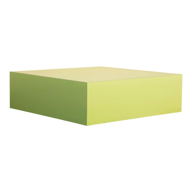Large Retro 1970s Retail Display Pedestal, Split Pea Green For Sale