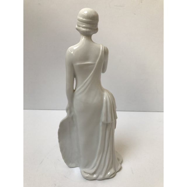 Art Deco Flapper Woman Statue - Image 3 of 8
