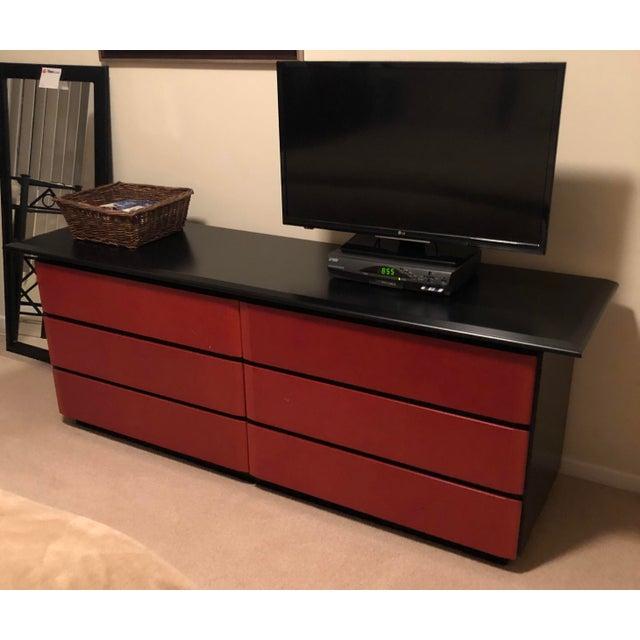 1980s Art Deco 6-Drawer Double Dresser