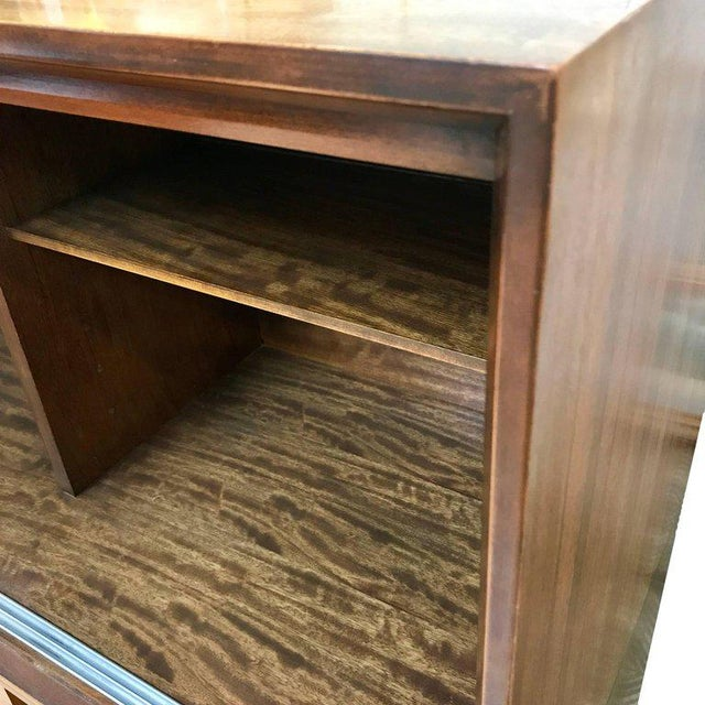 1950s 1950s Mid-Century Modern Milo Baughman for Drexel Perspective Mindoro Wood China Hutch For Sale - Image 5 of 12
