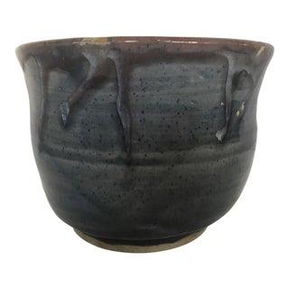 Vintage Studio Pottery Bowl or Cachepot Signed