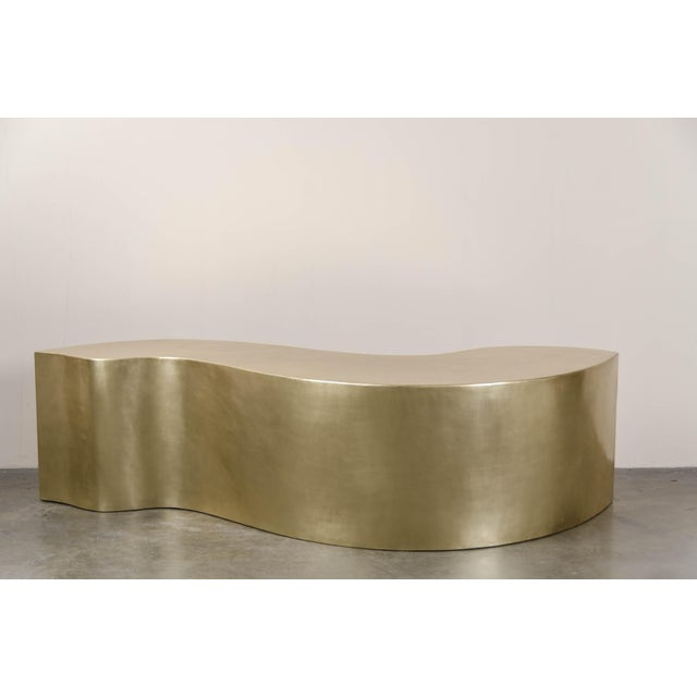 Dragon Bench - Brass by Robert Kuo, Hand Repousse, Limited Edition For Sale In Los Angeles - Image 6 of 6