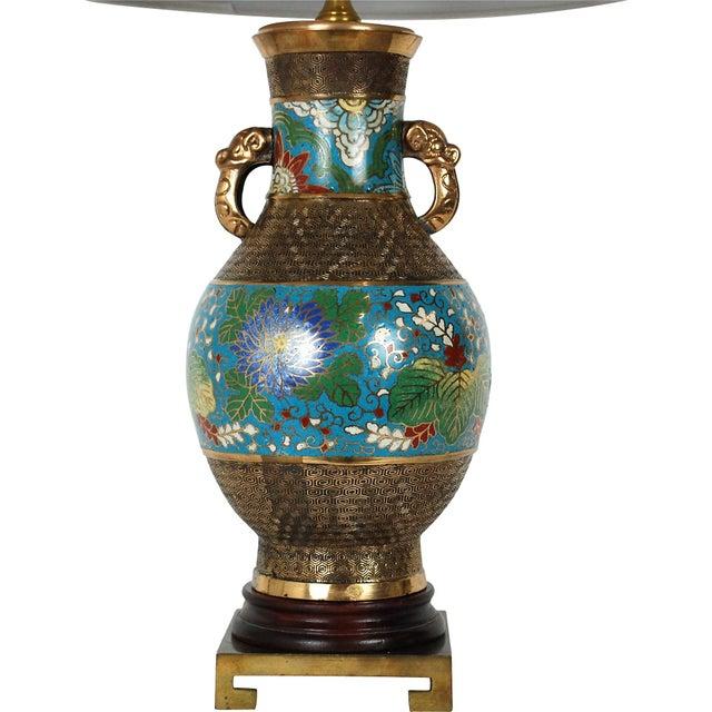 Bronze Champlevé Lamp - Image 4 of 8