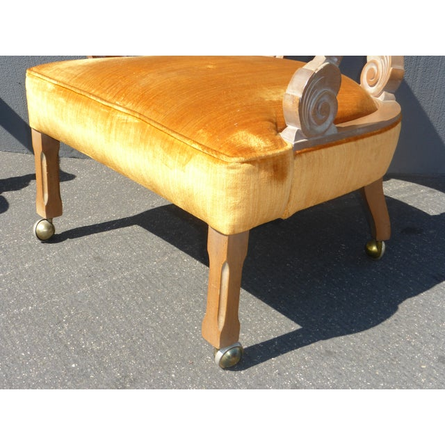 Hollywood Regency Orange Velvet Chairs - A Pair - Image 11 of 11