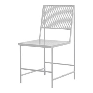 Foreman Brothers Flux Dining Chair in Cumulus White For Sale